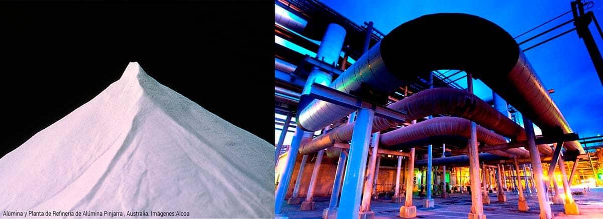 Alúmina y planta de refinería en Australia